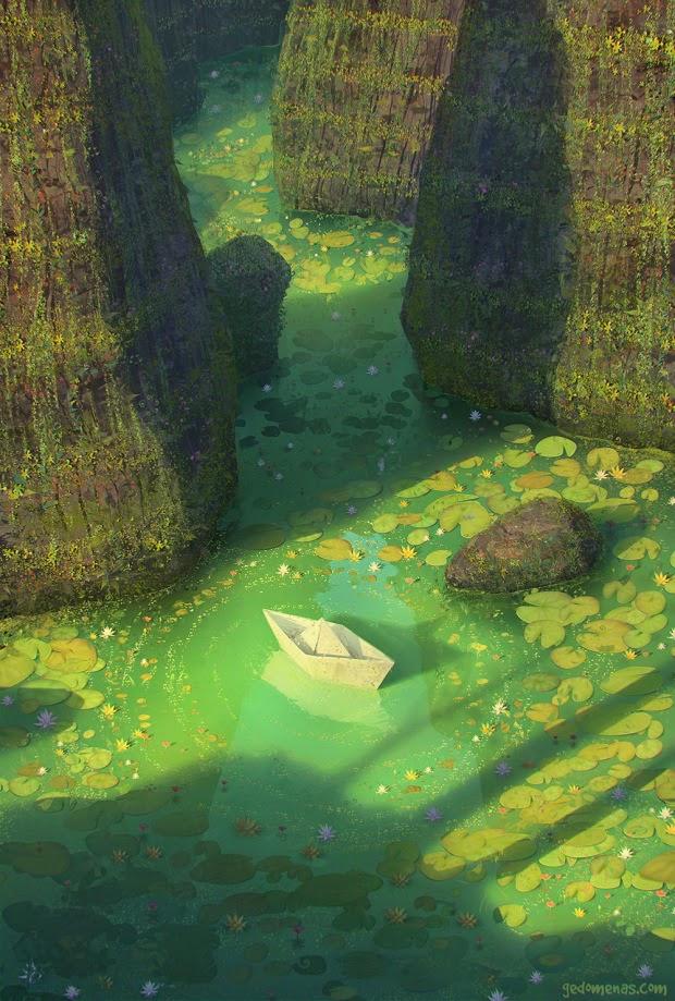 ilustraciones mundos surreales