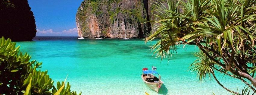 Couverture facebook beau paysage paradis