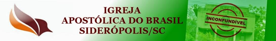 IGREJA APOSTÓLICA DO BRASIL-SIDERÓPOLIS