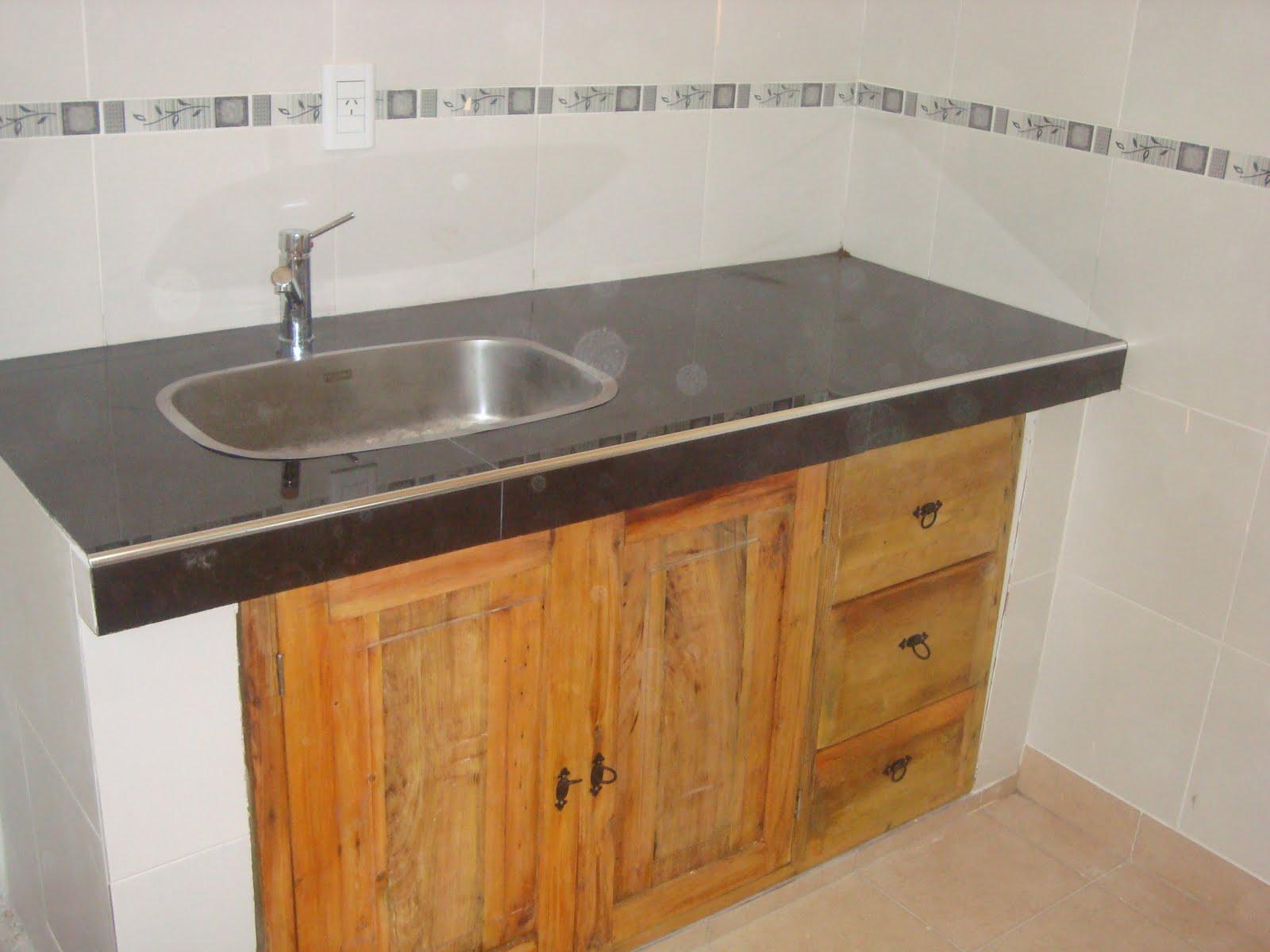 Carpinteria mc amoblamiento de cocina bajo mesada rustico - Estilos de mobiliario ...