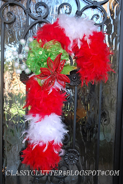 candy cane wreath