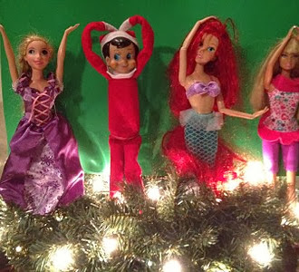 Elf On The Shelf Dancing with Disney Princesses