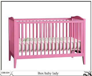 Tempat tidur bayi balita pink lady