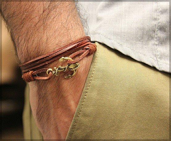 Мужские браслеты с якорем своими руками