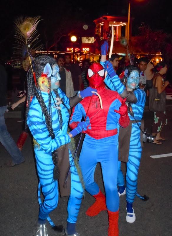 Avatar Navi costumes West Hollywood Halloween 2010
