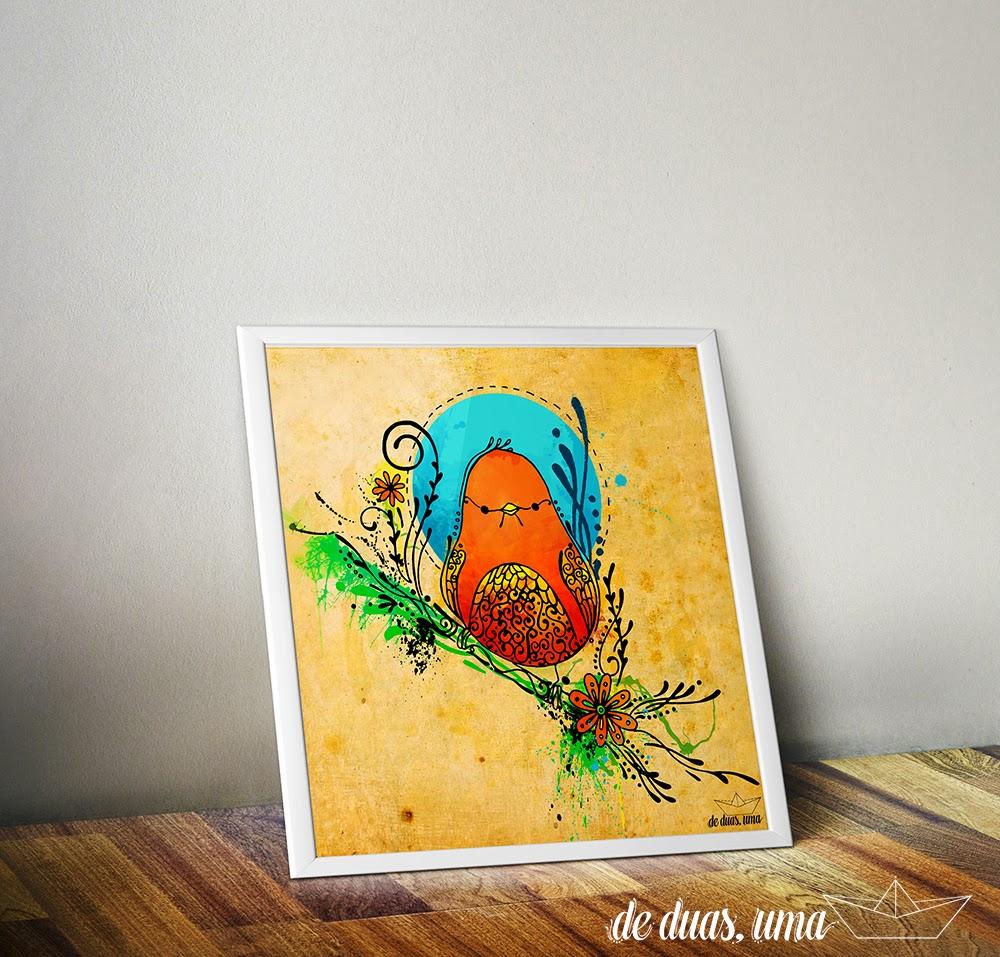 frame bird illustration de duas uma