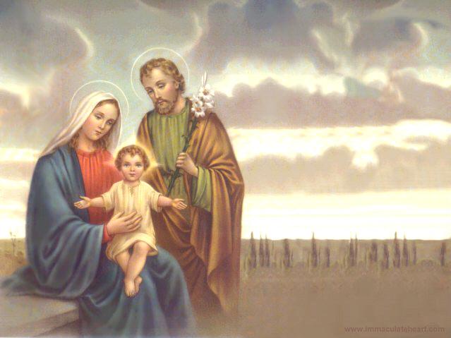 la sagrada familia jesus maria y jose