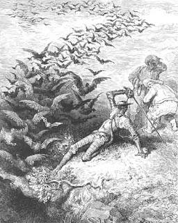 Episodio de la Cuenva de Montesinos. Gustavo Doré
