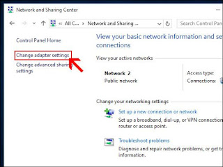 change adapater setting