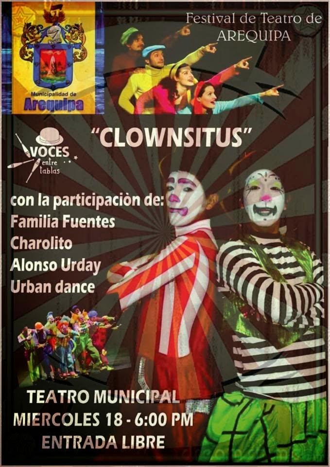 Festival de teatro: Clownsitus - 18 de Diciembre