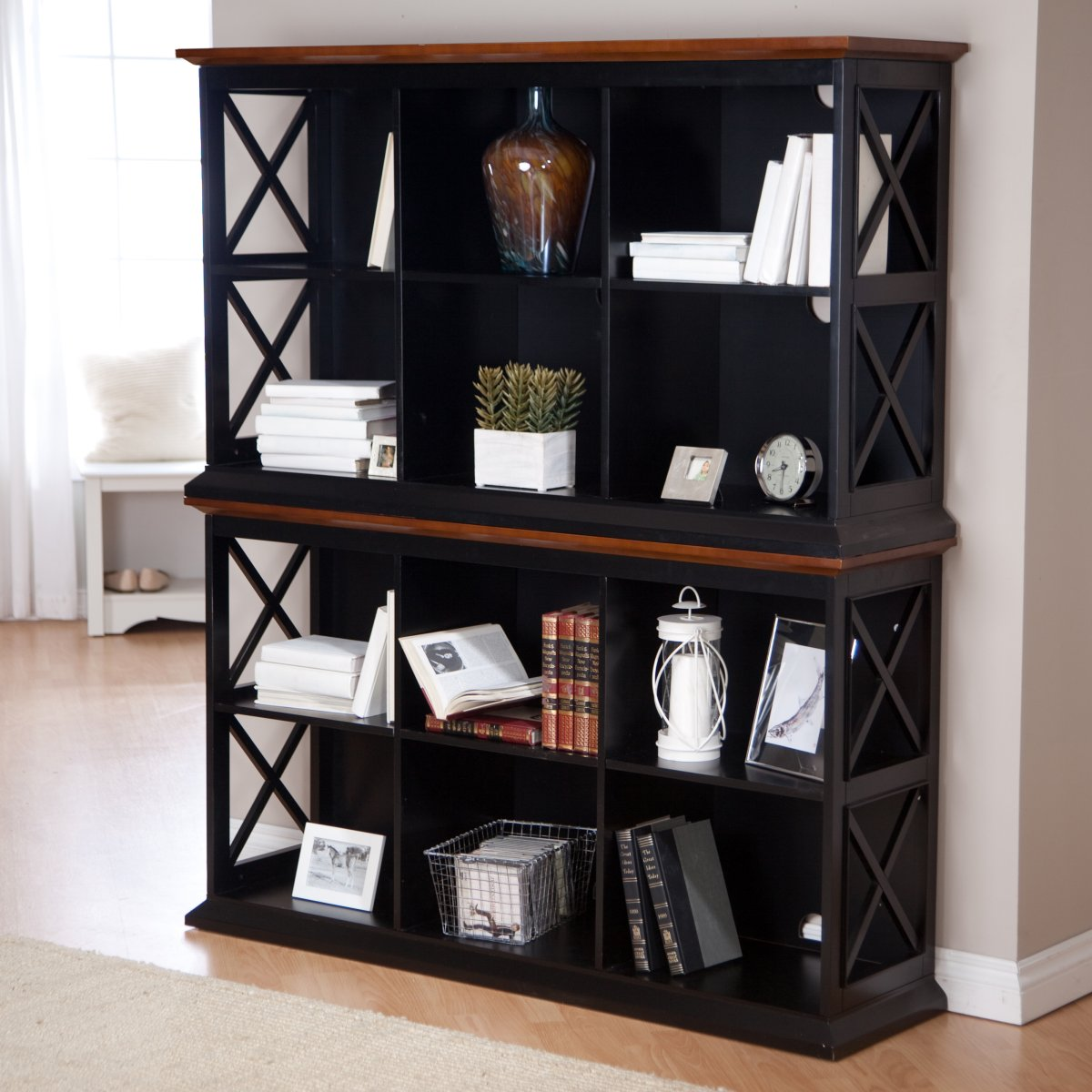 Stackable Bookcase Hampton Console Table Bookcase. Full resolution  img, nominally Width 1200 Height 1200 pixels, img with #693B27.