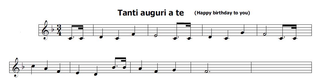 Musica e spartiti gratis per flauto dolce tanti auguri a te for Tanti auguri a te suoneria per cellulari