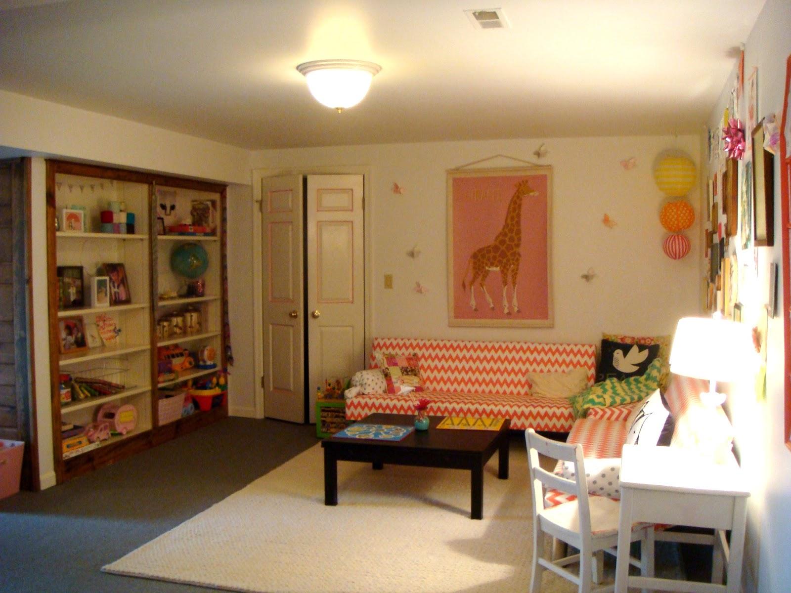 basement playroom reveal