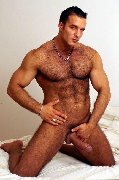 Hombres peludos colgados calientes