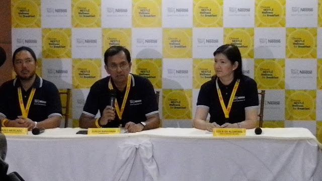 From Nestle Philippines, left to right: Mr. Paolo Mercado (Communication and Marketing Services Director), Mr. Suresh Narayanan (Chairman and CEO),  Ms. Leslie Go-Alcantara (Corporate Wellness Head).