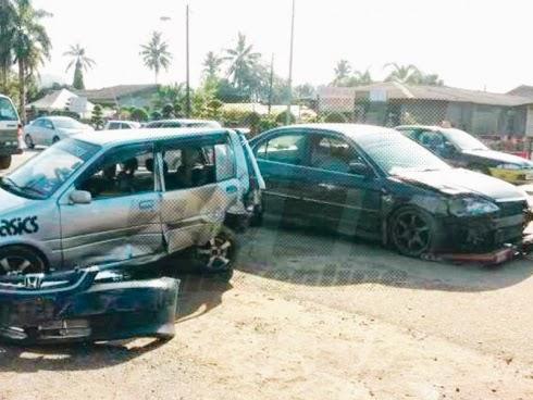 Kemalangan 5 kenderaan sebabkan jalan sesak sepanjang 1km