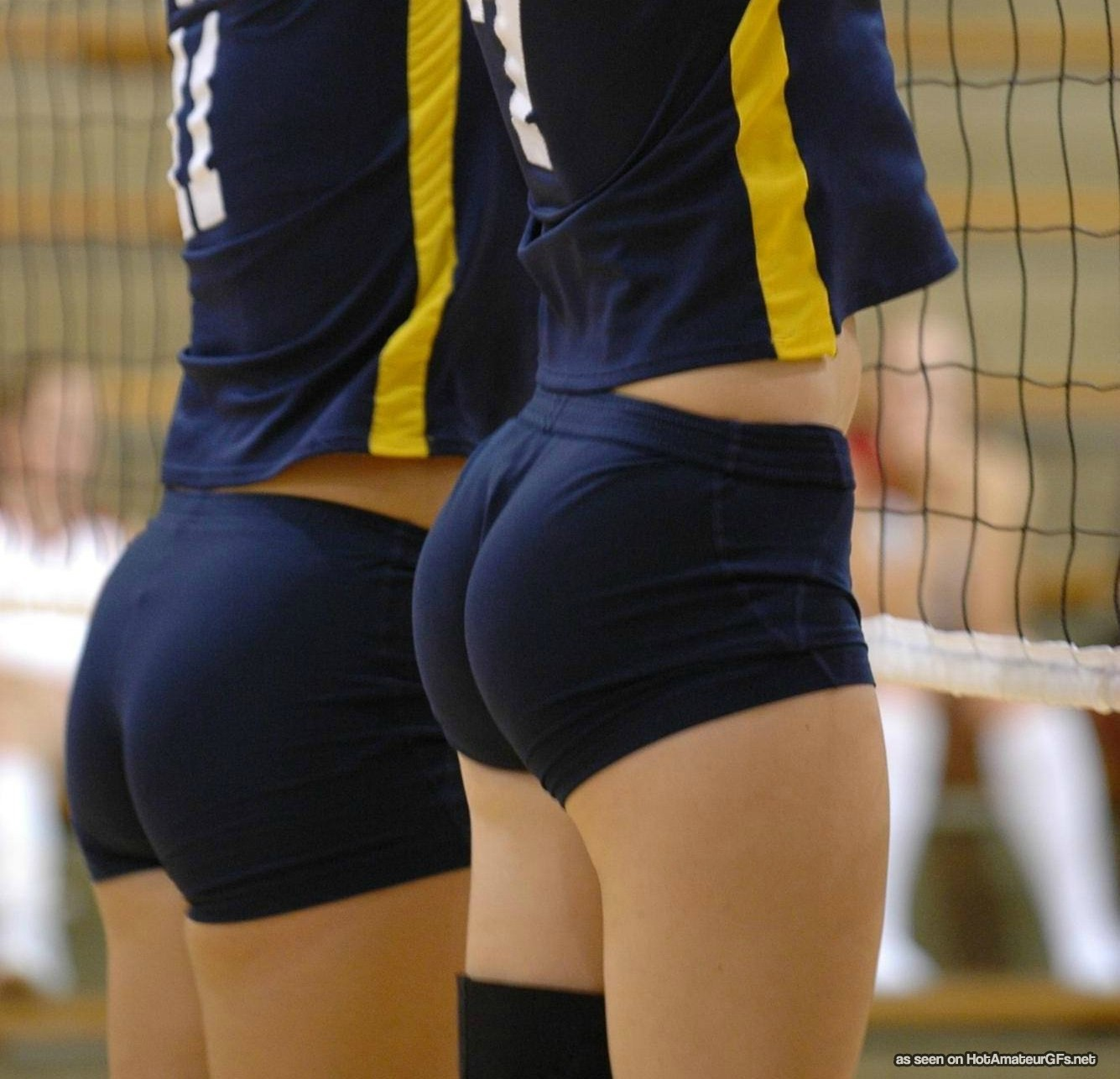 girls asses volleyball shorts