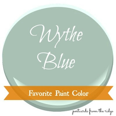 favorite paint color ~ benjamin moore wythe blue - postcards from