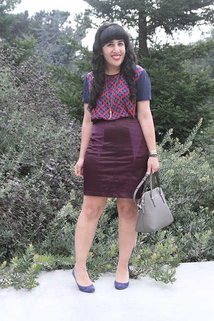 Jewel Tone Office Work Outfit
