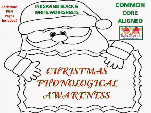Twin Speech Language Literacy LLC December 2013 – Phonological Awareness Worksheets