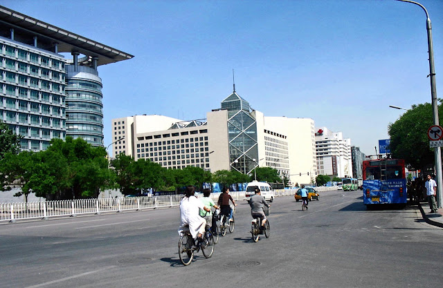 main thoroughfare and commercial buildings in Beijing
