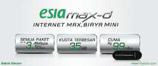 Esia | Tarif Paket Internet Esia MAX-D