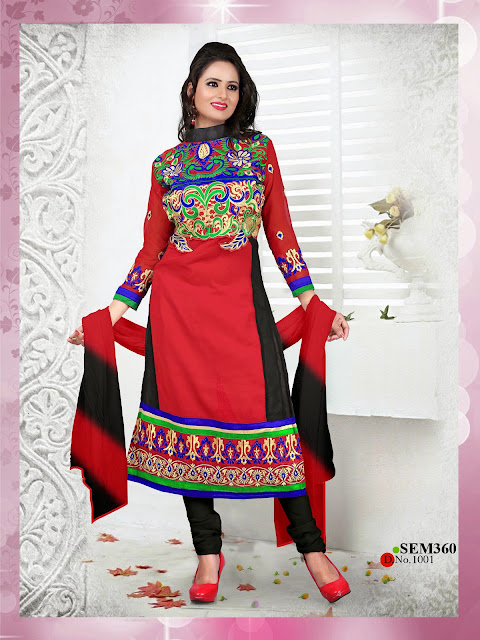 Buy Online Cambric Cotton Long Salwar Kameez