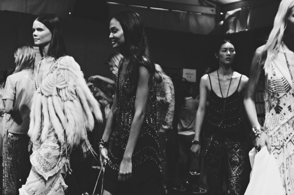 {fashion inspiration | places : backstage at roberto cavalli}