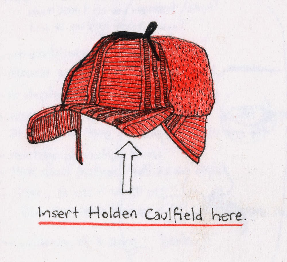 holden caulfield  in conclusion enjoy this blog devoted to catcher in the rye also enjoy this sketch of holdens beloved and symbolic red hunting hat