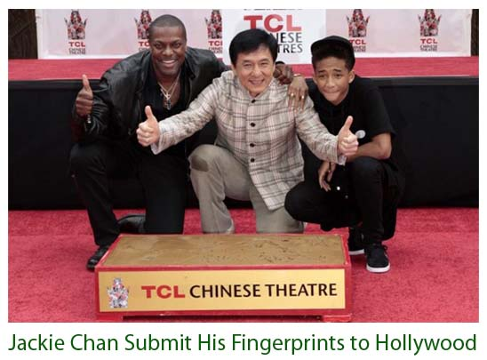 Jackie Chan Submit His Fingerprints to Hollywood