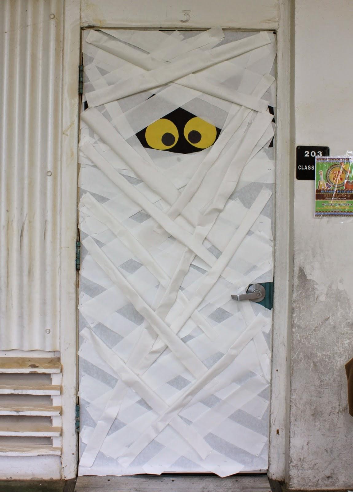 Mummy classroom door