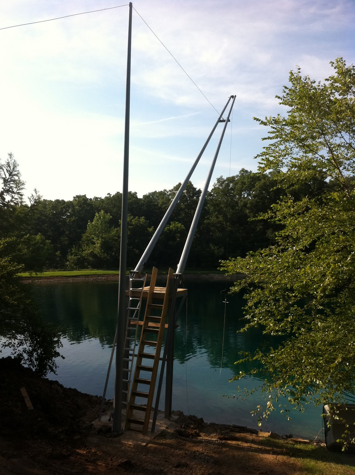 Nate's Fishing Blog: Perfect Pond Rope Swing