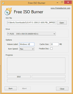 Burn ISO file to DVD