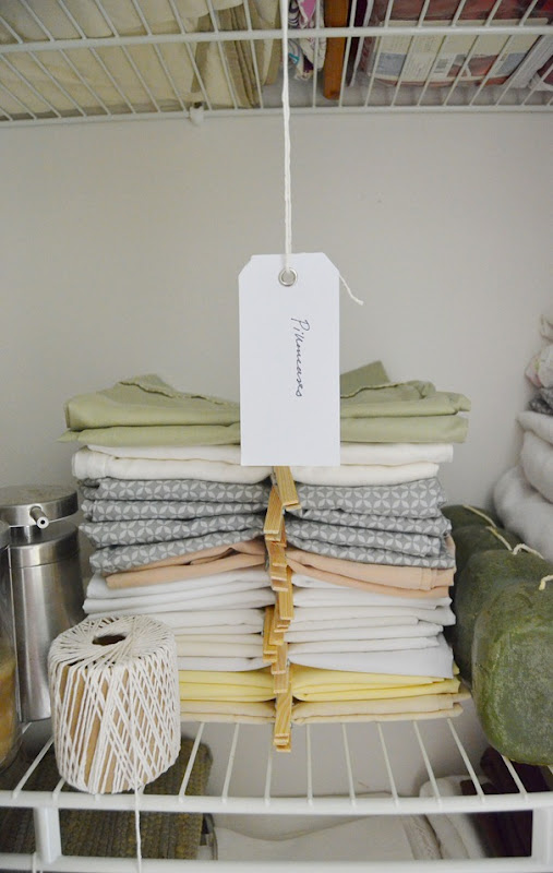 Nest for All Seasons linen organization
