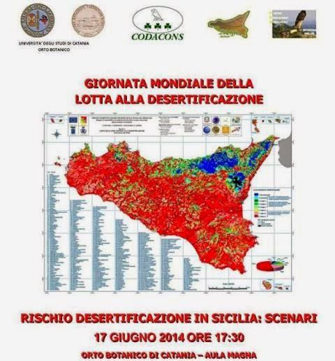 """INCONTRO DIBATTITO: """"RISCHIO DESERTIFICAZIONE IN SICILIA: SCENARI"""""""