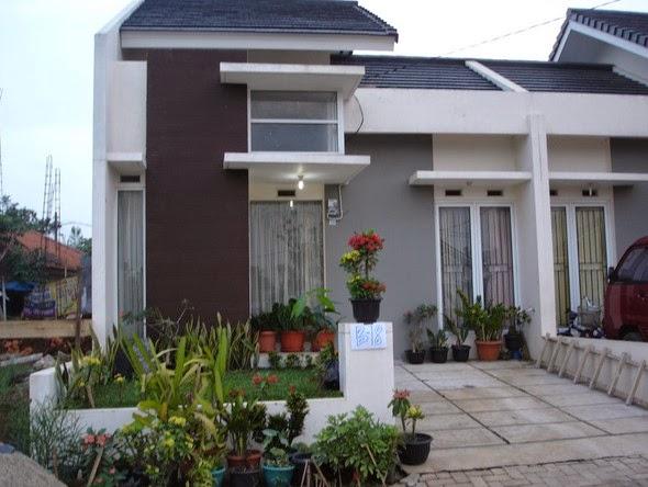 Contoh Gambar Taman dan Teras Rumah Minimalis type 36