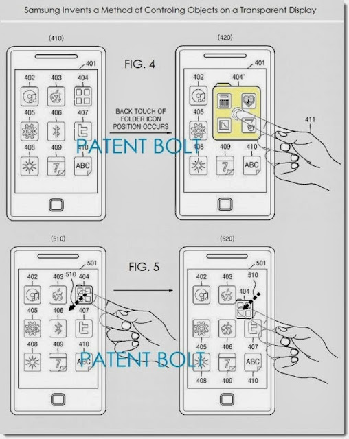 Samsung has something new for future devices, a transparent display with front and backside touch is patented