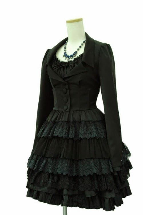 sheglit gothic lolita fashion chiffon rose shop kawaii tokyo japanese fashion clothing lace chiffon polyester tailored kodona ouji black dark