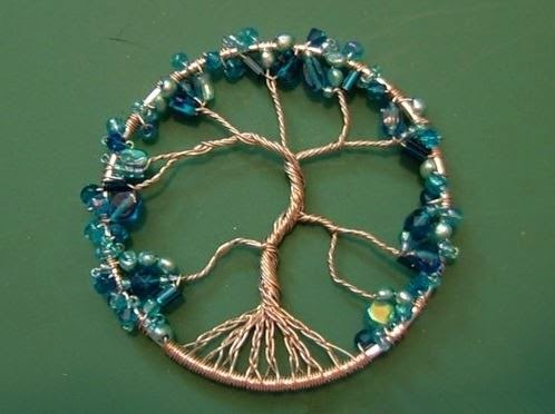 Diy beaded dream catcher the idea king for How to make a wire tree of life sculpture