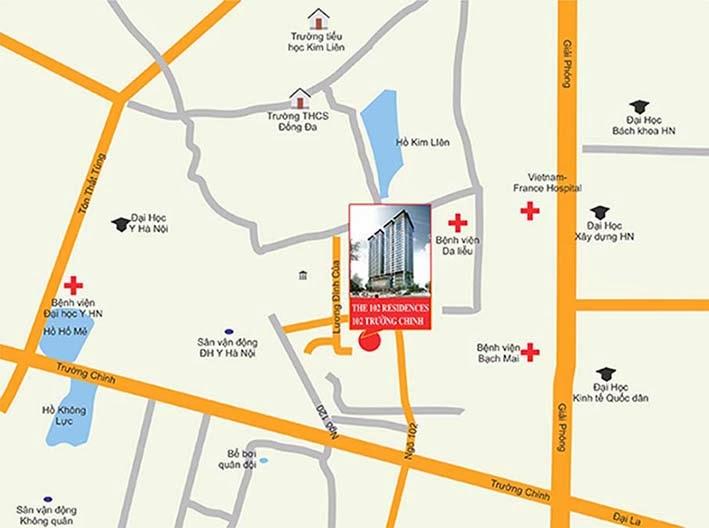 Vị trí nhà tập thể 102 Trường Chinh kinh kỳ - The 102 Residences