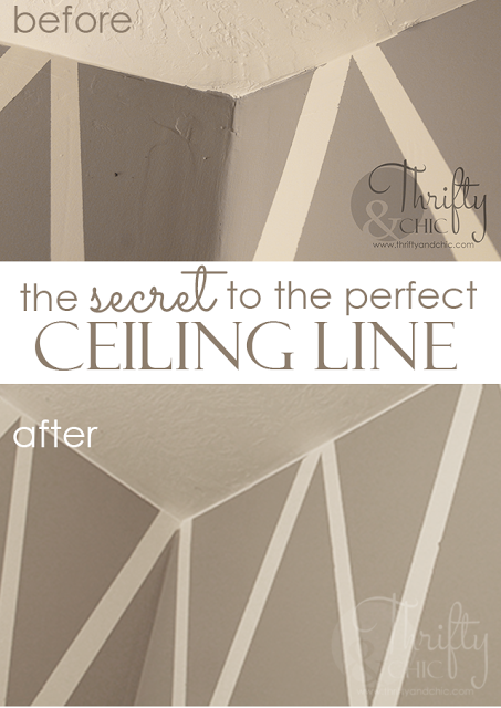 the secret to the perfect ceiling line