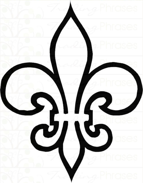 Delicate image pertaining to fleur de lis printable