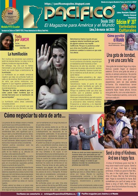 Revista Pacifico N° 397 Variedades Culturales