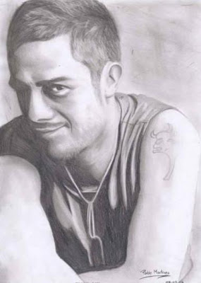 Retrato del cantante Alejandro Sanz