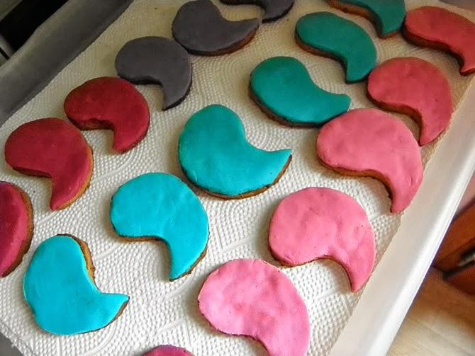 biscotti colorati a paisley