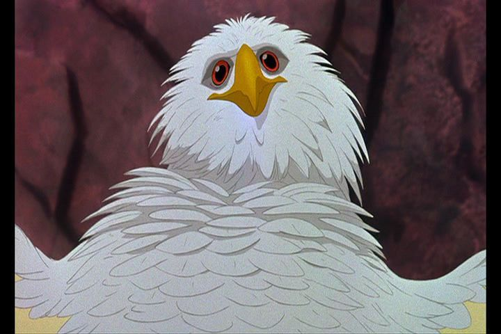 "Marahute the golden eagle  Disney movie ""The Rescuers Down Under"" 1990 animatedfilmreviews.blogspot.com"