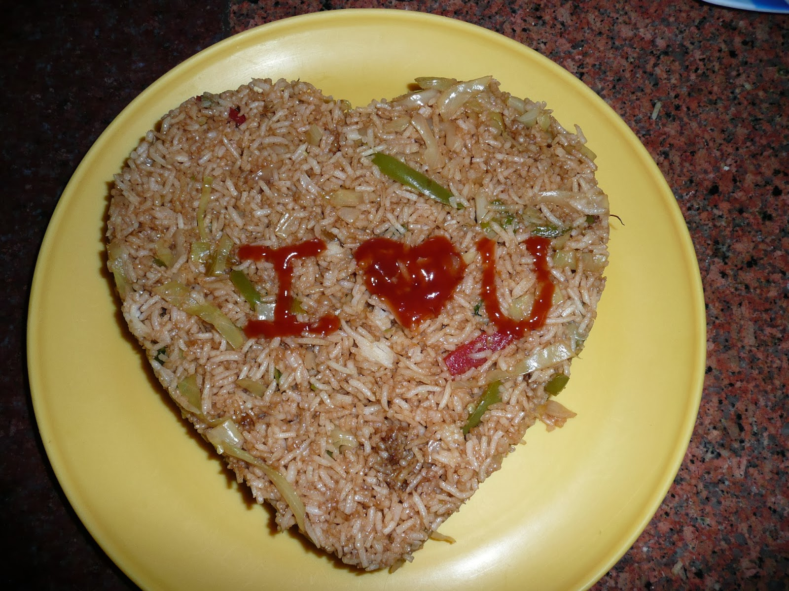 valentines day fried rice