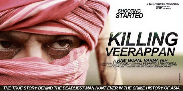 Killing Veerappan Movie First Look Posters | Ram Gopal Varma