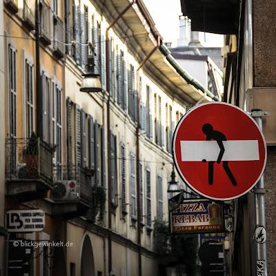 Mailand Schilder-Streetart
