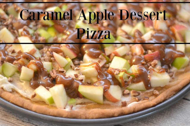 Caramel Apple Dessert Pizza #Recipe, fruit pizza recipe. fruit pizza, Caramel Apple Dessert Pizza, apple desserts, pot luck recipes, fall desserts, easy desserts, caramel desserts, sugar cookie recipe, sugar cookies, sugar cookie pizza crust